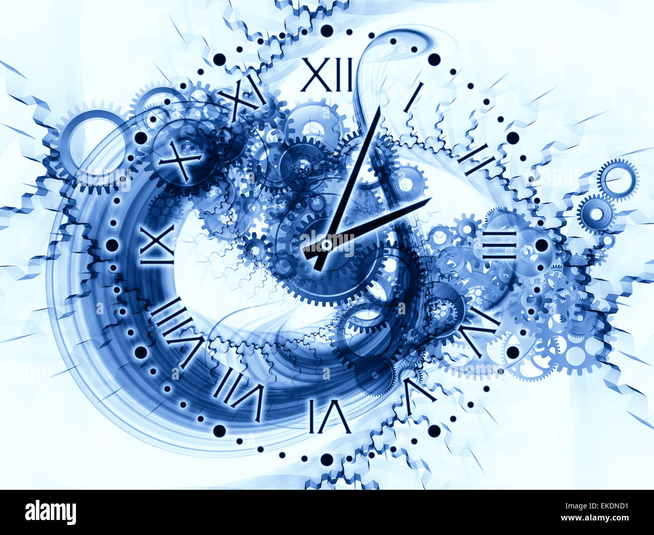 Abstract Clock Background Stock Photo Alamy