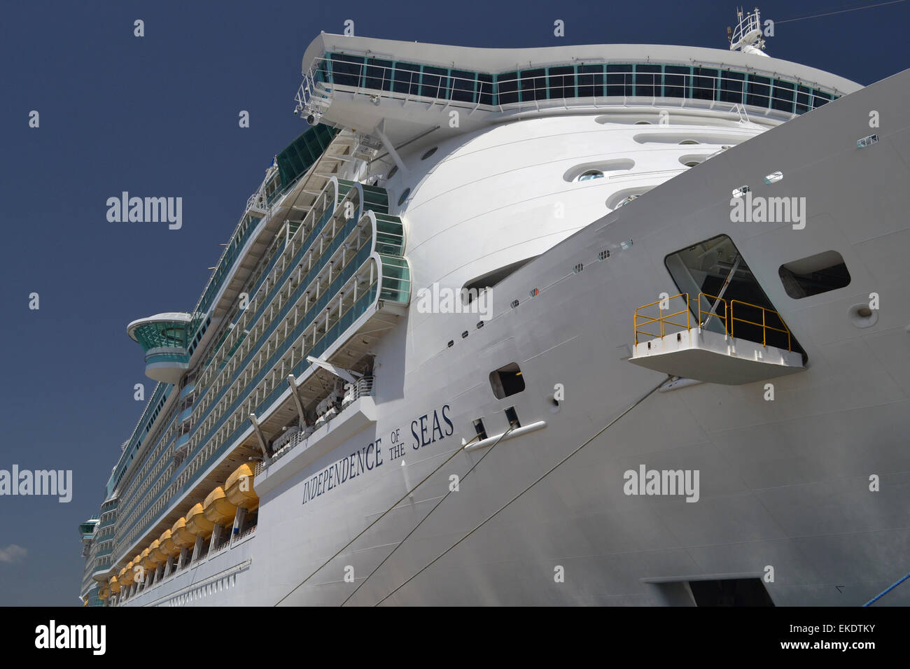 Independence of the Seas, cruise ship, Royal Caribbean - Stock Image