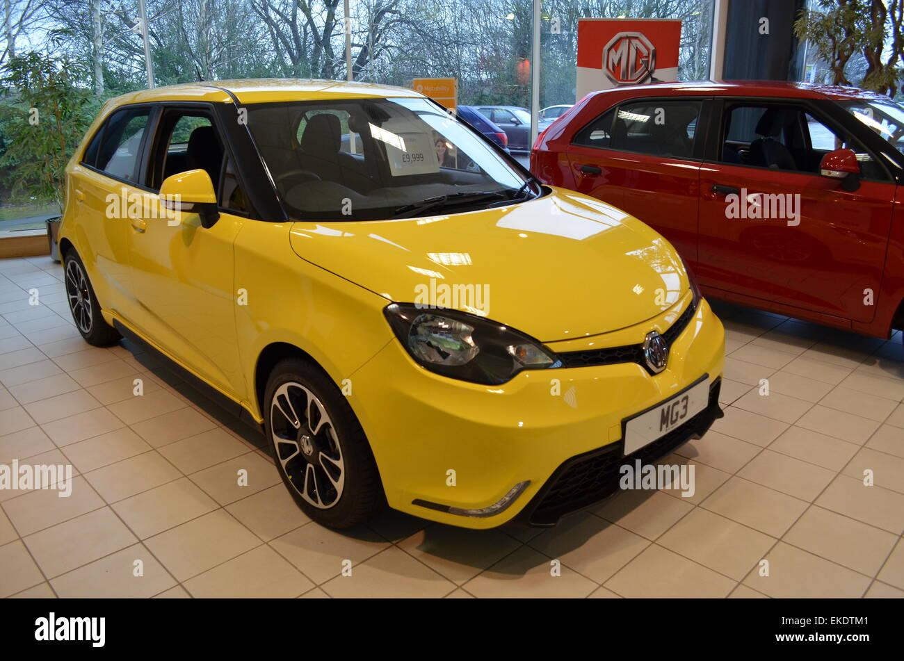 MG3 at car sales centre, MG, Longbridge, Birmingham. - Stock Image