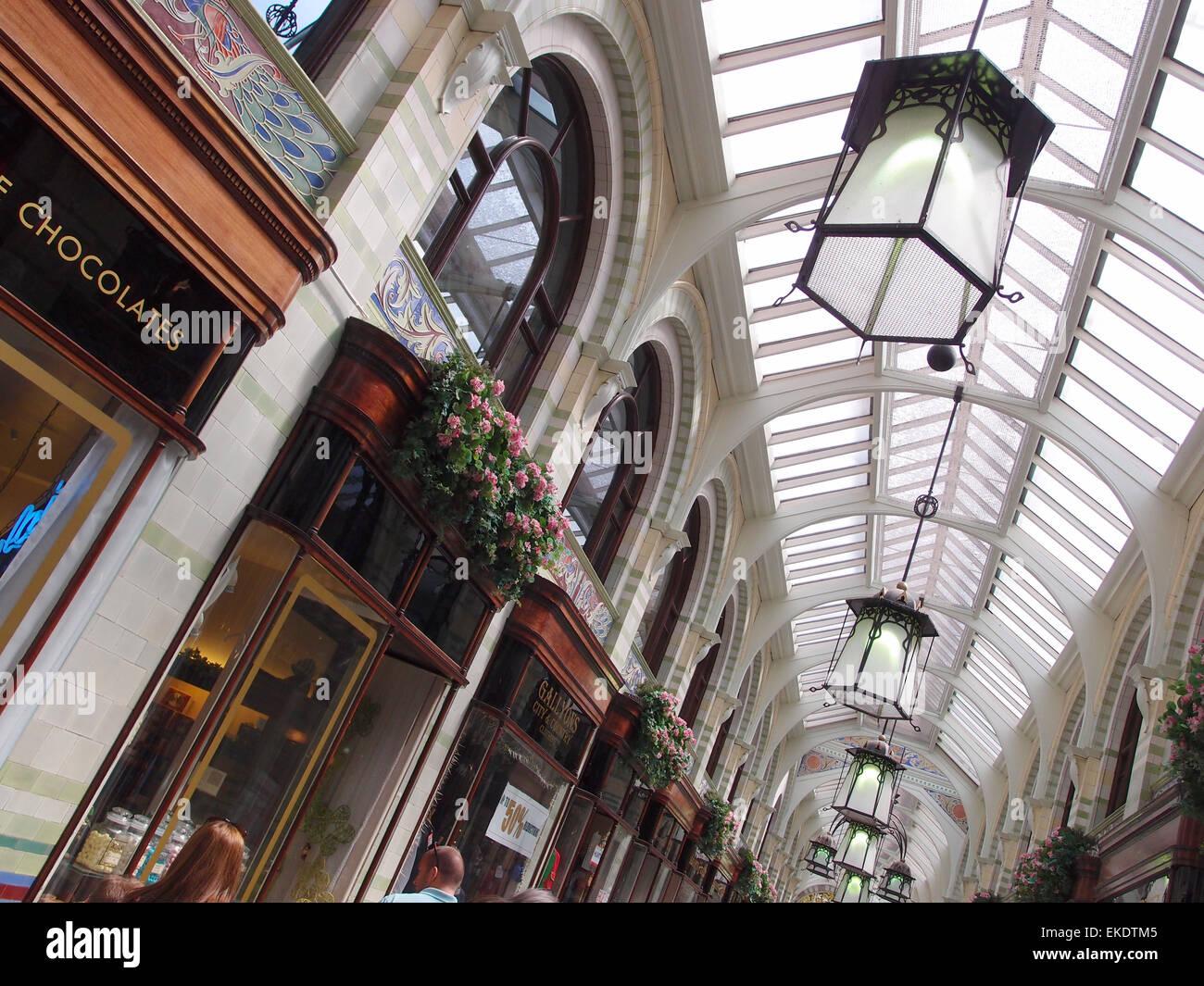 The Royal Arcade, Norwich, Norfolk, UK - Stock Image