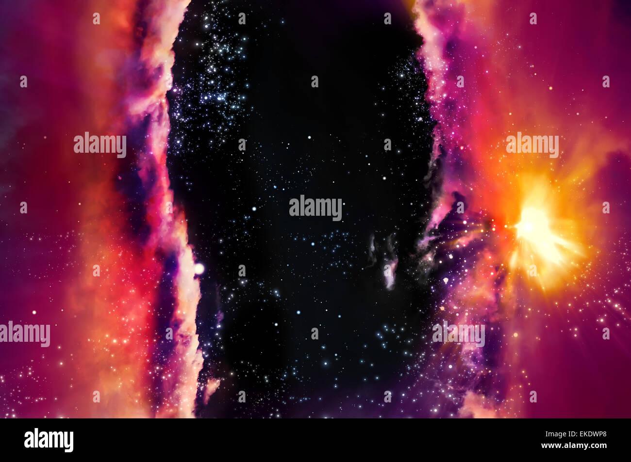 skirmish of galaxies - Stock Image