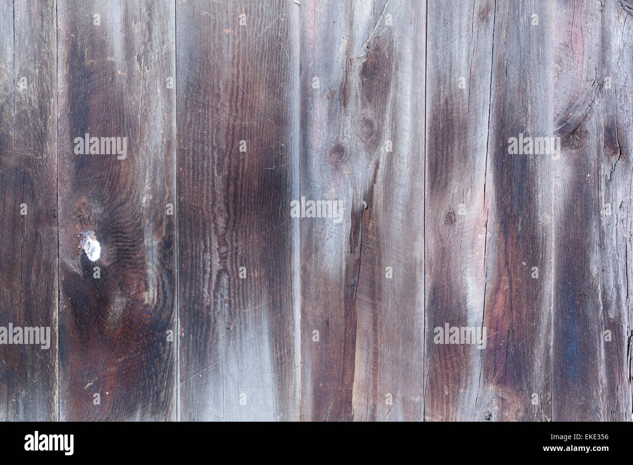 Old and weathered wooden planks. - Stock Image