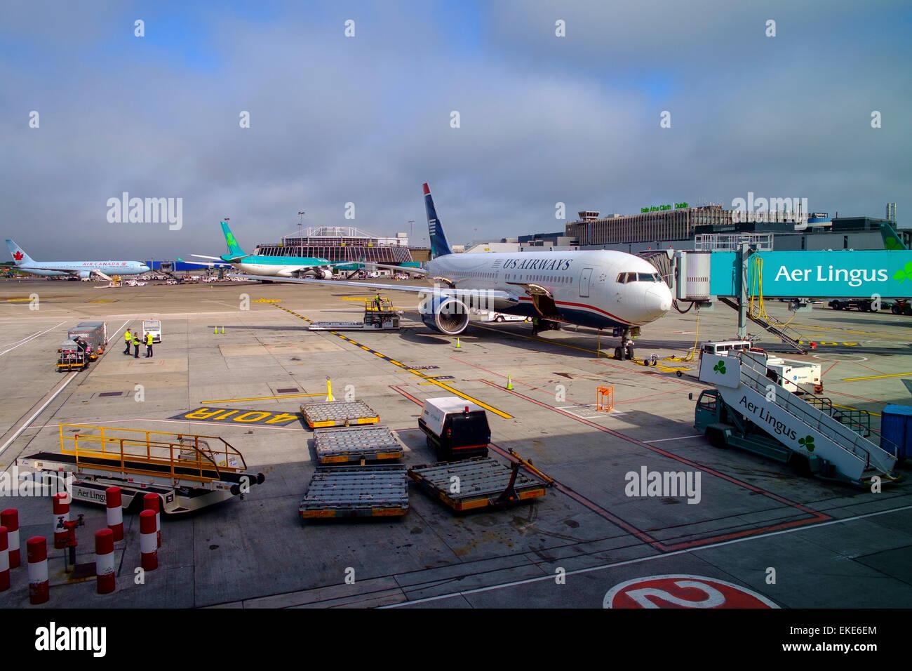 dublin airport aer lingus us airways Photo by Peter Cavanagh [Must Credit] - Stock Image