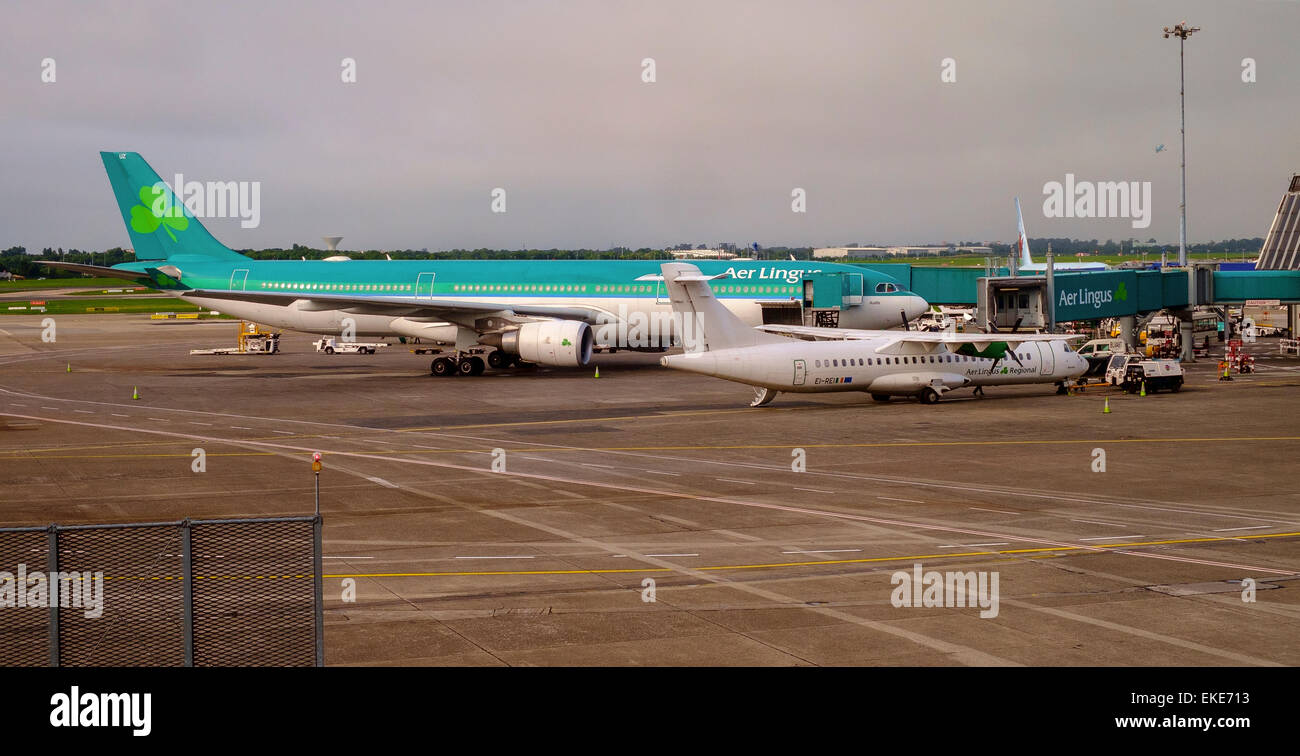dublin airport aer lingus EI DUZ, A330-302, St. Aoife Photo by Peter Cavanagh [Must Credit] - Stock Image