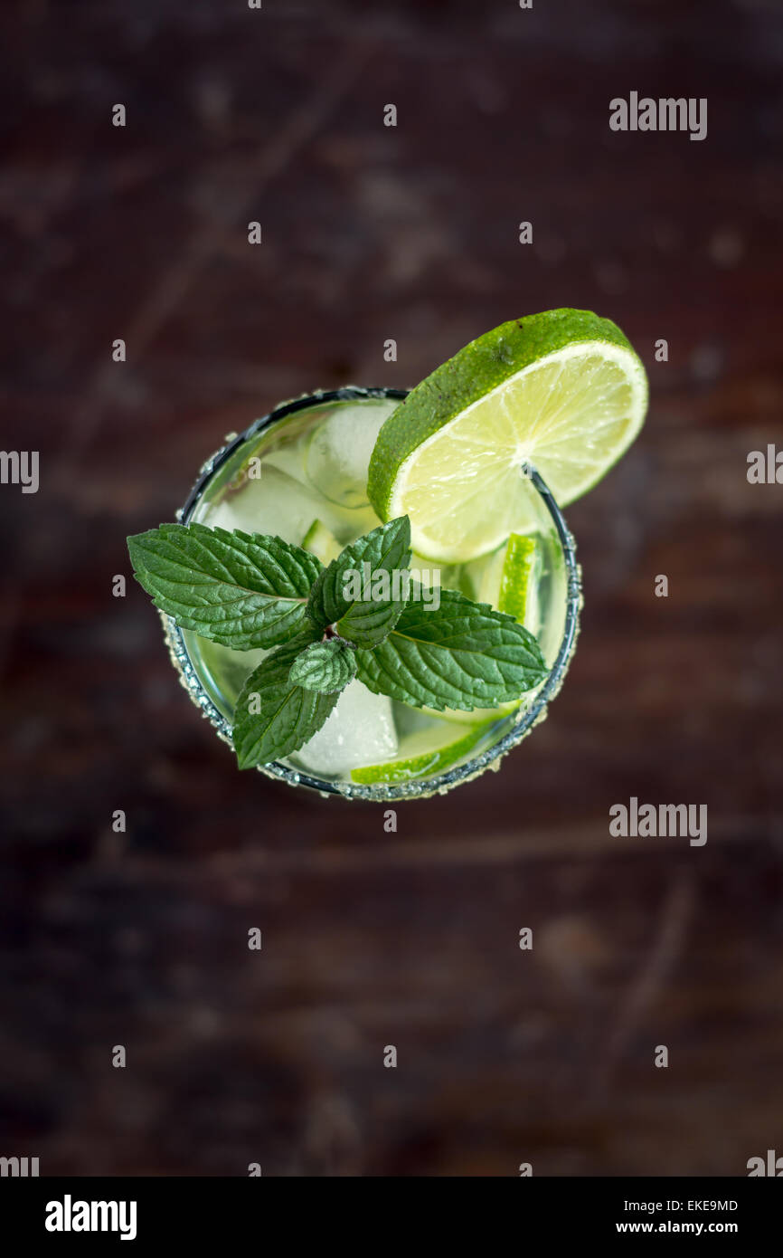 Mojito Lime Drink Cocktail Stock Photo