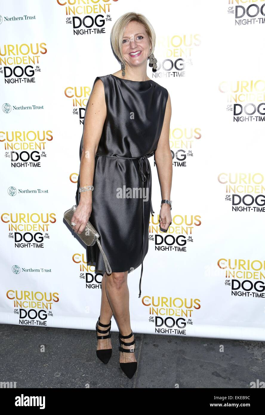 Opening night of The Curious Incident of the Dog in the Night-Time at the Barrymore Theatre - Arrivals. Featuring: - Stock Image