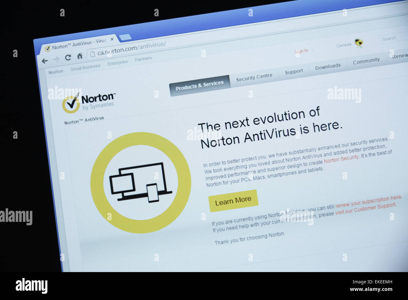 norton antivirus - Stock Image