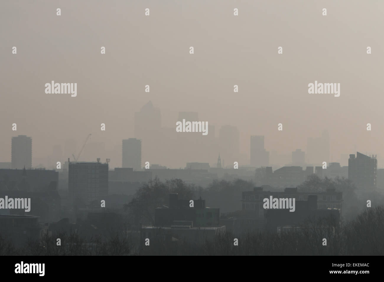 Image of pollution in London - Stock Image