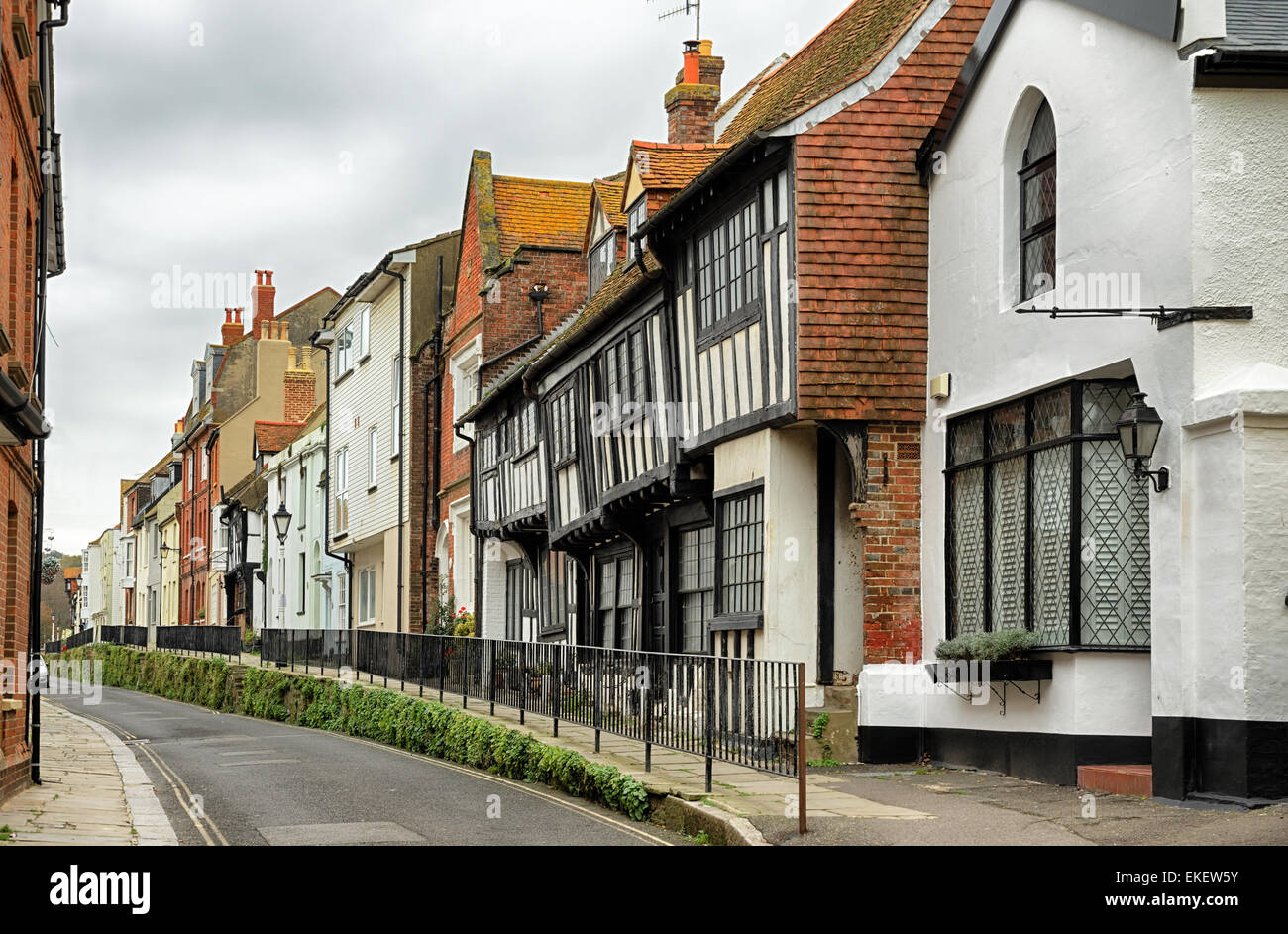 Street in the old town, Hastings - Stock Image