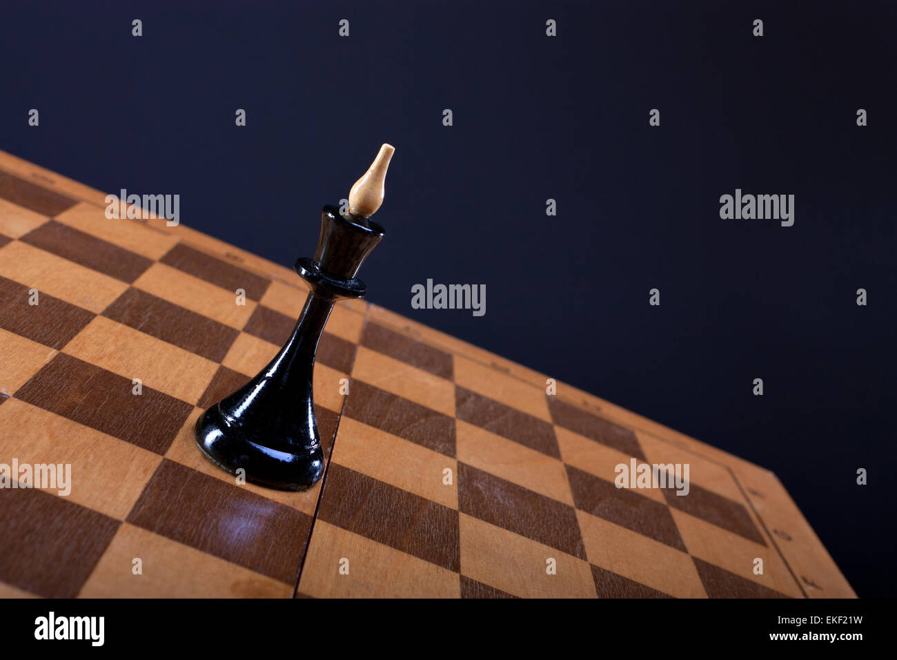 chess queen on the Board - Stock Image