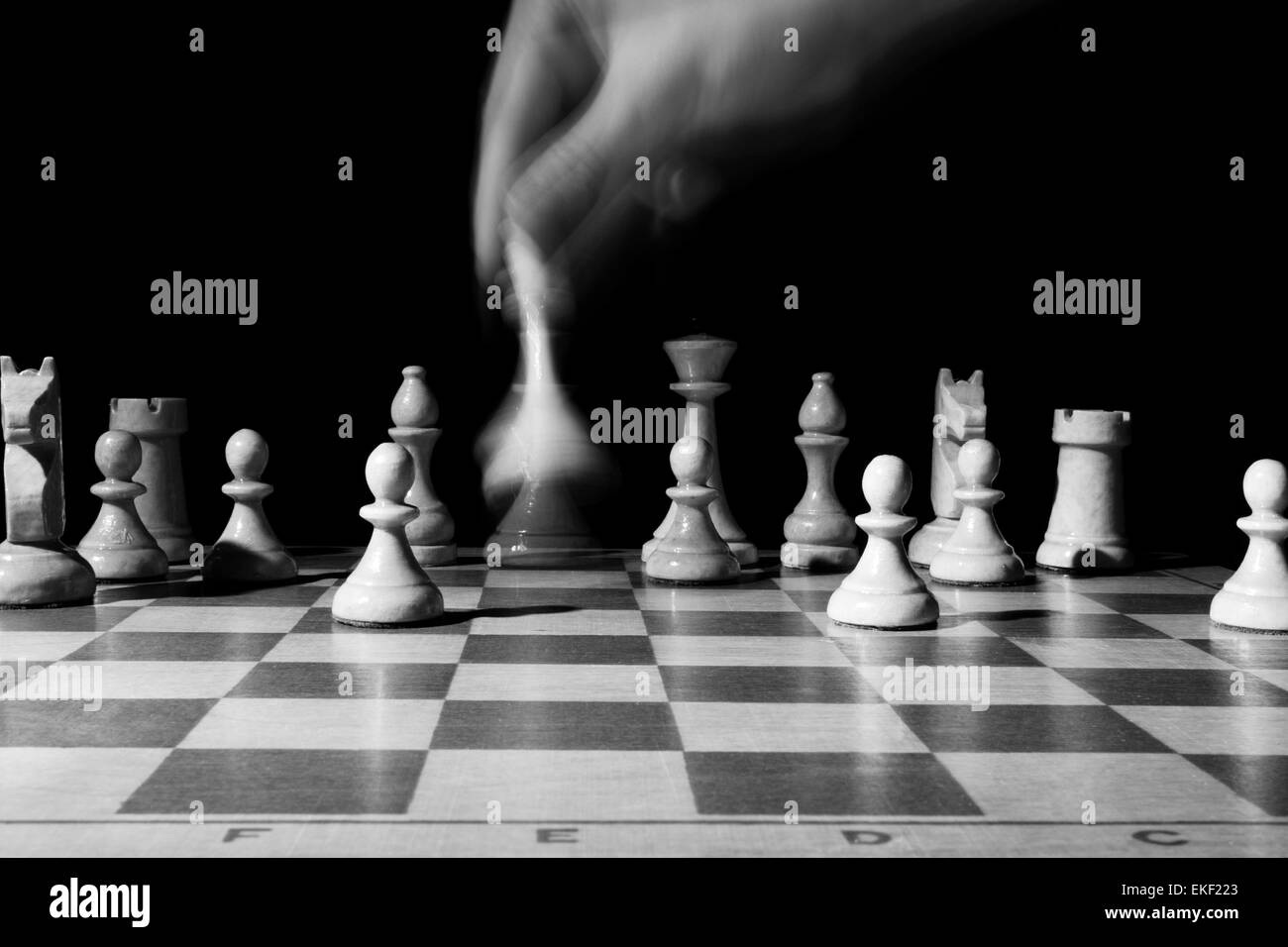 course of the chess queen - Stock Image