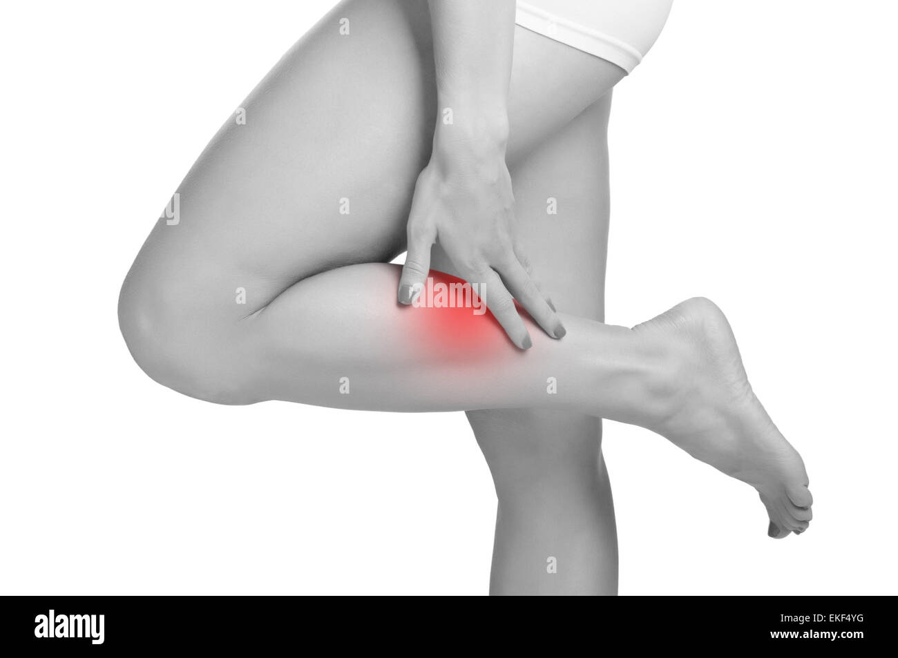 Pain in the Leg - Stock Image