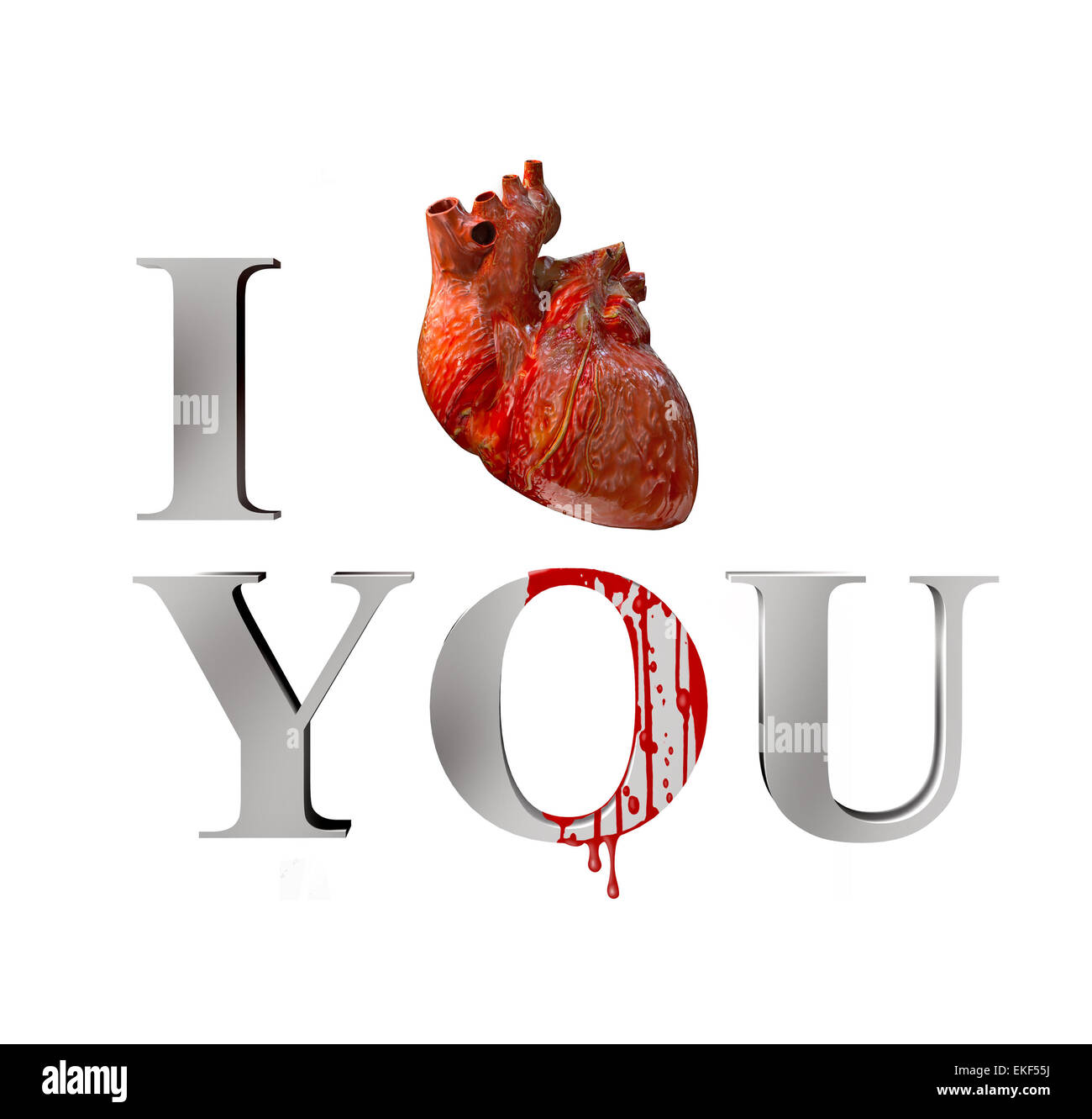 I love you - Stock Image