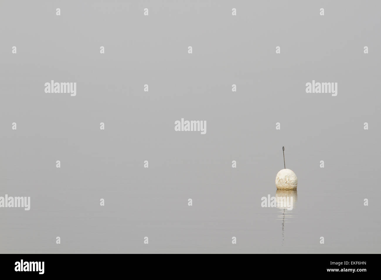 buoy in the fog - Stock Image