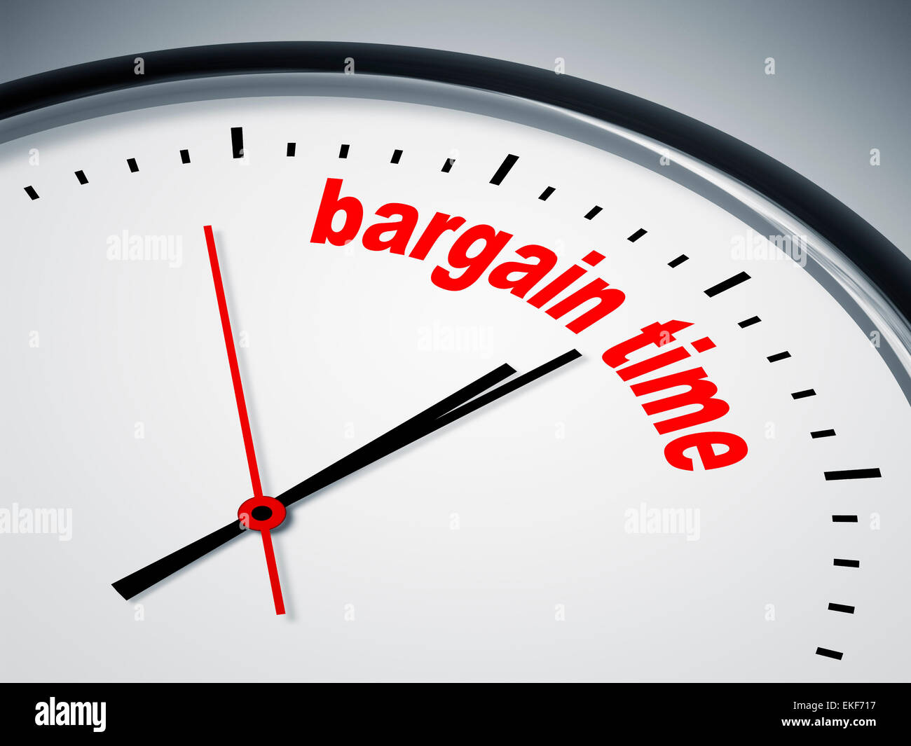 bargain time - Stock Image