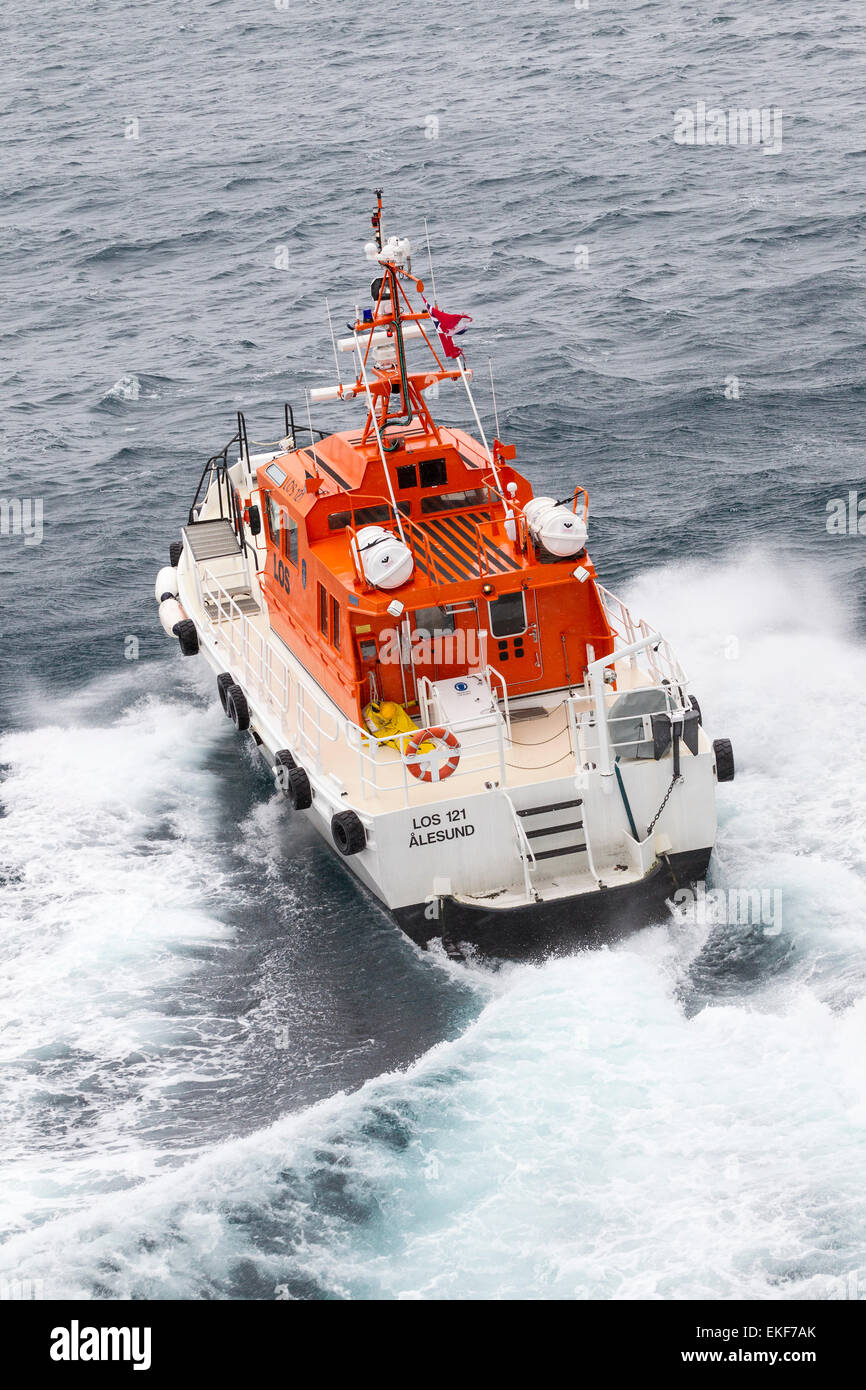 Dockstavarvet design Pilot boat Tromso Norway. Stock Photo