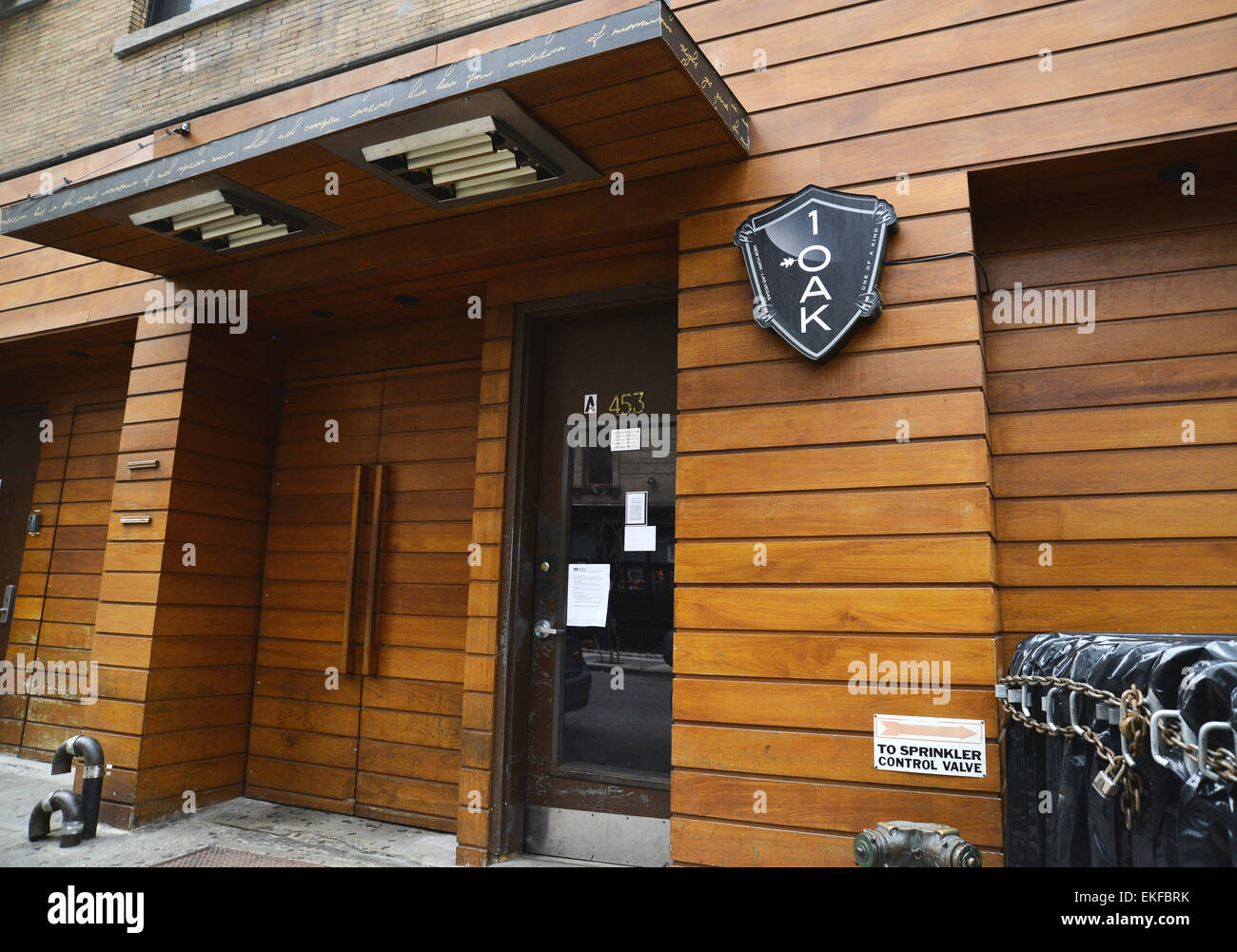 The exterior of 1 Oak nightclub in New York City. This club is the scene of many criminal acts. Photo by Steve Mann - Stock Image