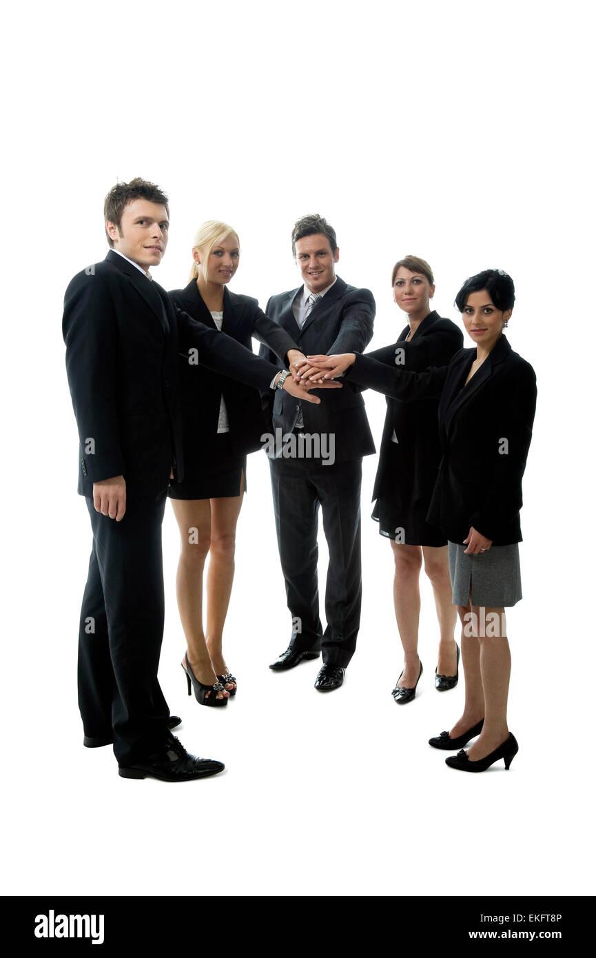 Powerful Team - Stock Image