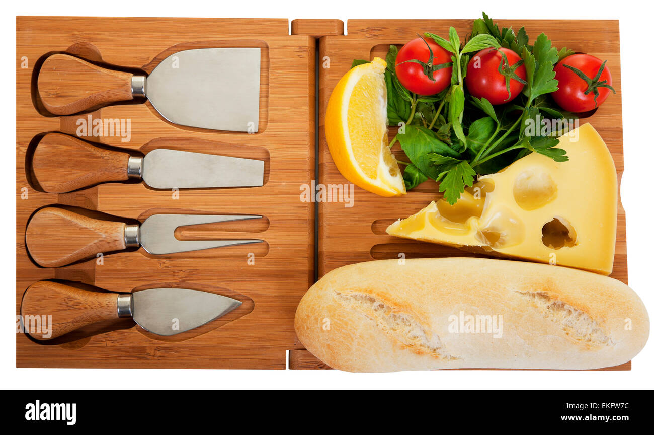 Cheese Knifes and Delicious Selection - Stock Image