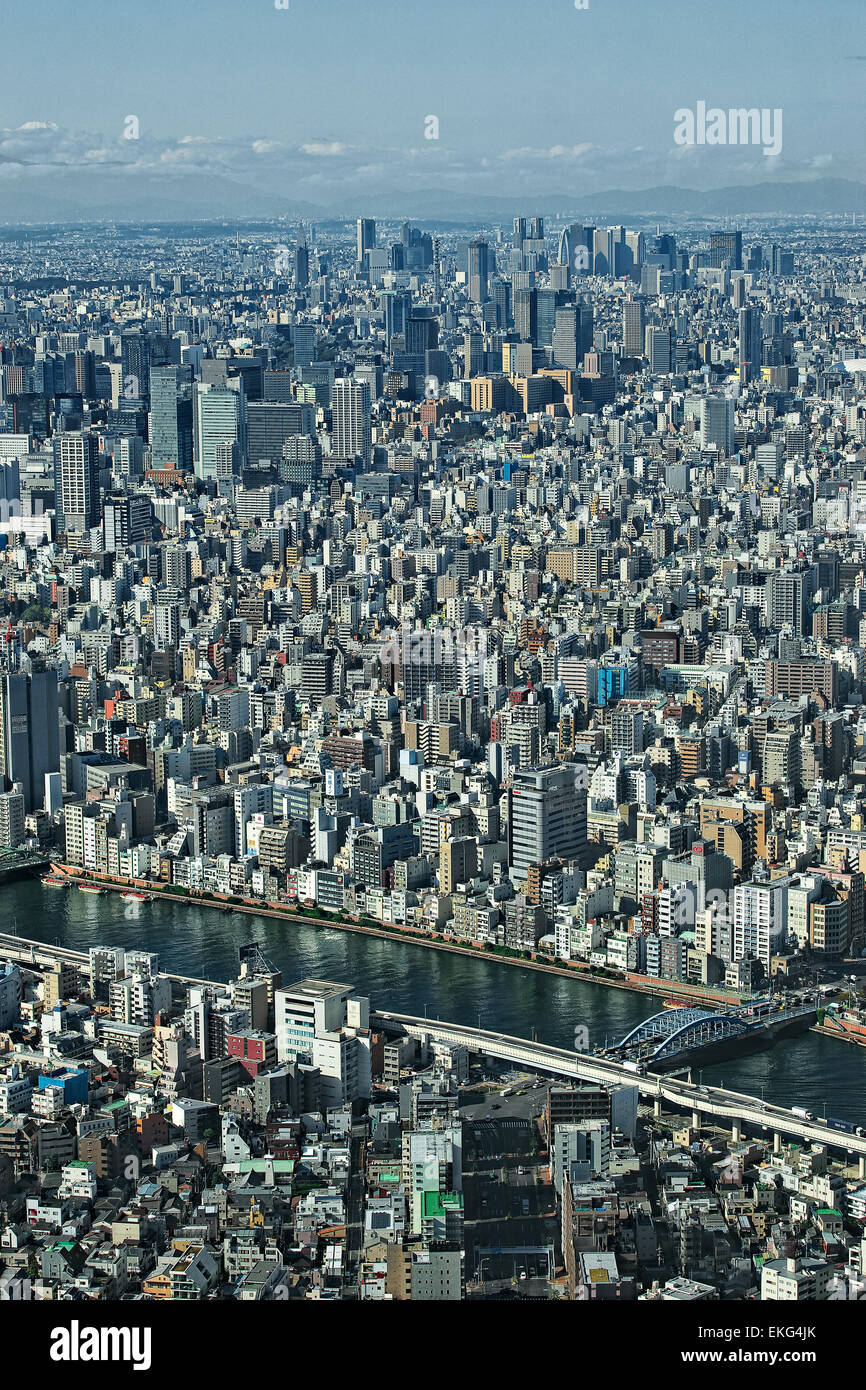 Honshu island, Kanto, Tokyo, overview. - Stock Image