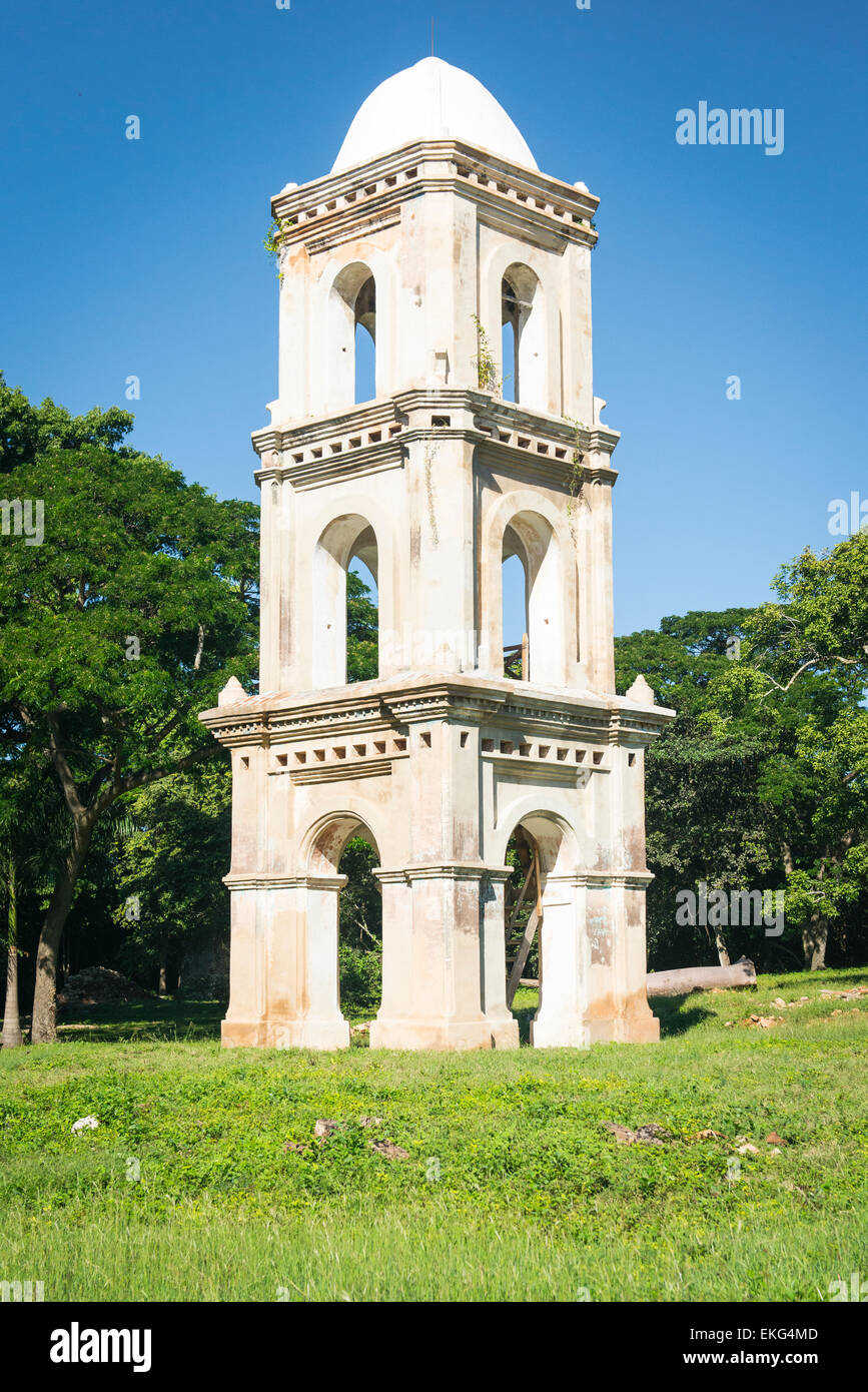 Cuba Trinidad region old sugar plantation tower for look out supervising slaves - Stock Image