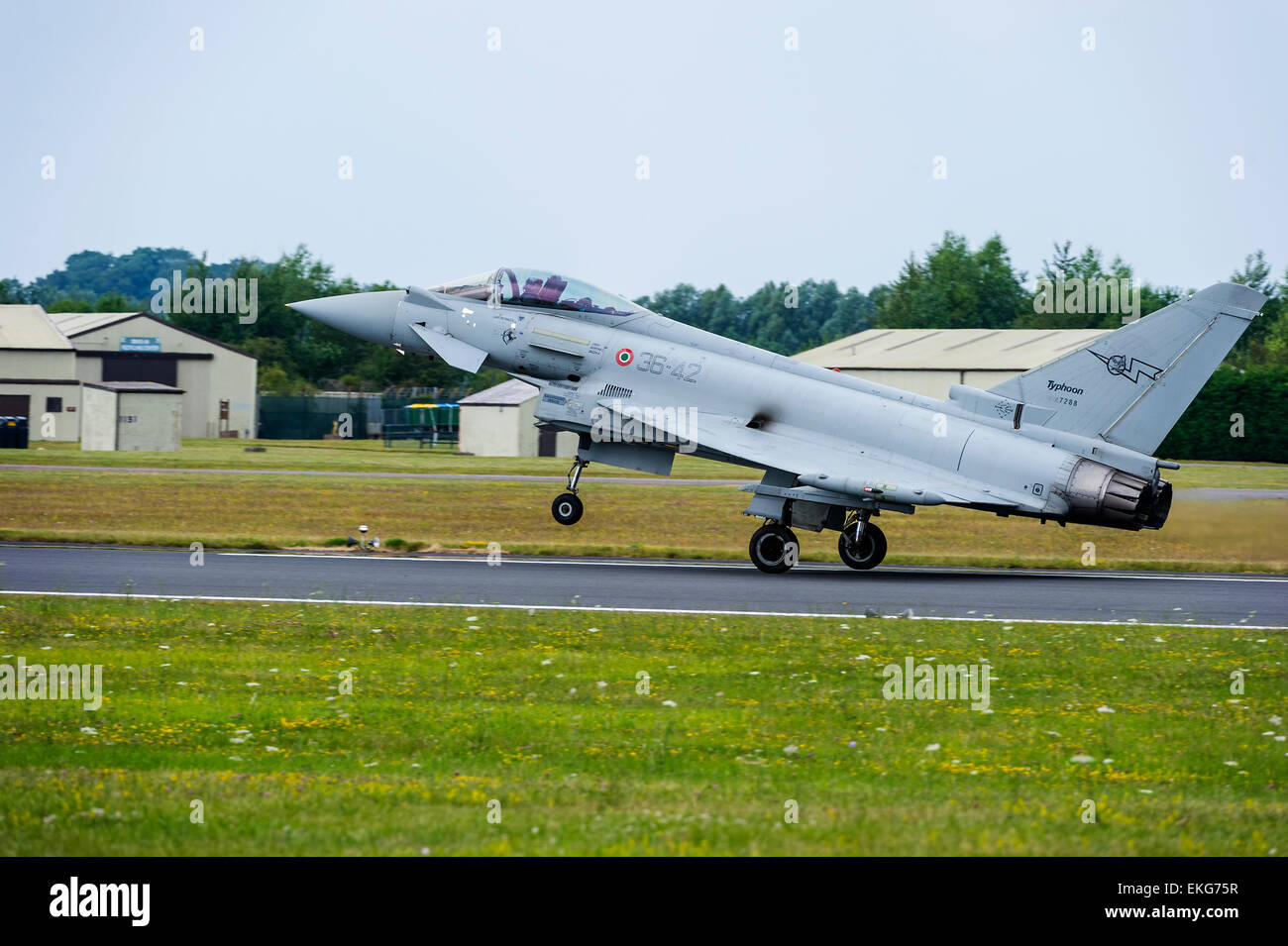 italian Air Force Typhoon F-2000A Eurofighter Stock Photo
