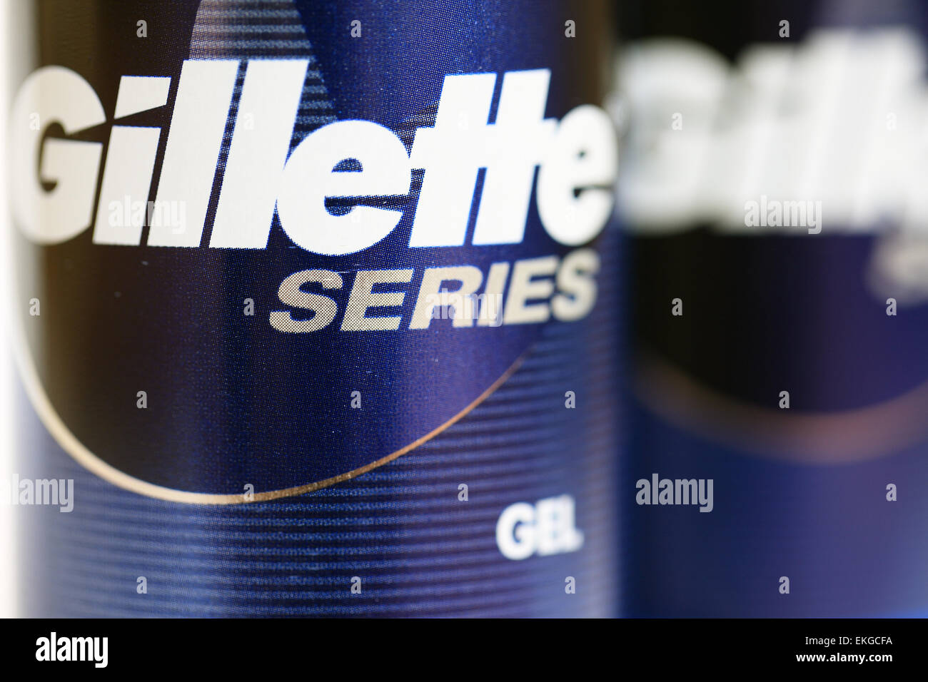Gillette series shaving gel - Stock Image