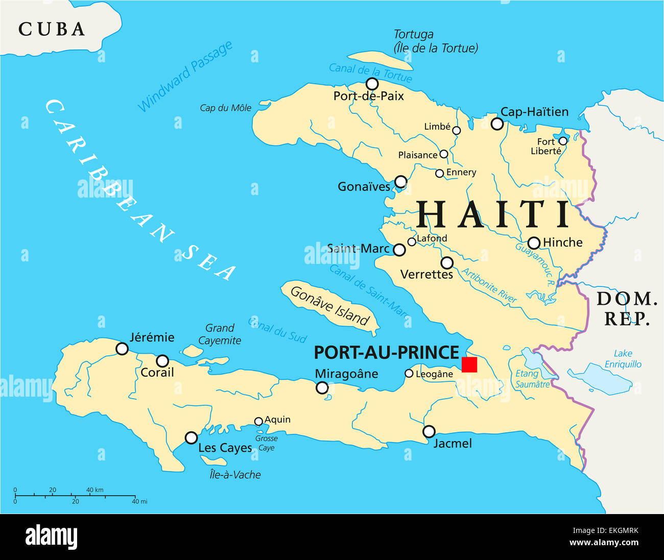 Haiti political map stock photo 80887511 alamy haiti political map gumiabroncs Images