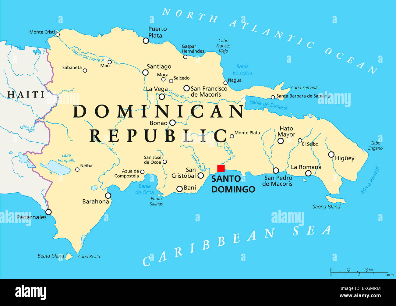 Map Of Dominican Republic Stock Photos & Map Of Dominican Republic Dominican Republic World Map on