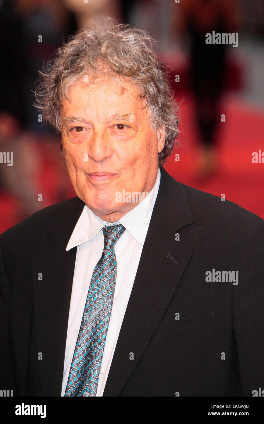 04.SEPTEMBER.2012. LONDON  TOM STOPPARD ATTENDS THE UK FILM PREMIERE OF NEW FILM ANNA KARENINA AT THE ODEON CINEMA, - Stock Image