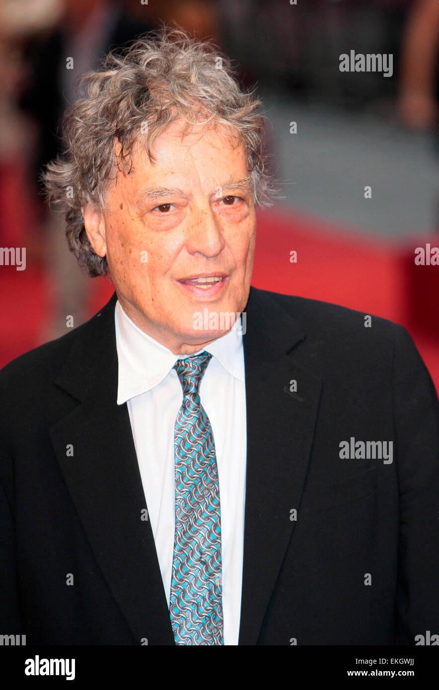 04.SEPTEMBER.2012. LONDON  TOM STOPPARD ATTENDS THE UK FILM PREMIERE OF NEW FILM ANNA KARENINA AT THE ODEON CINEMA, - Stock Image