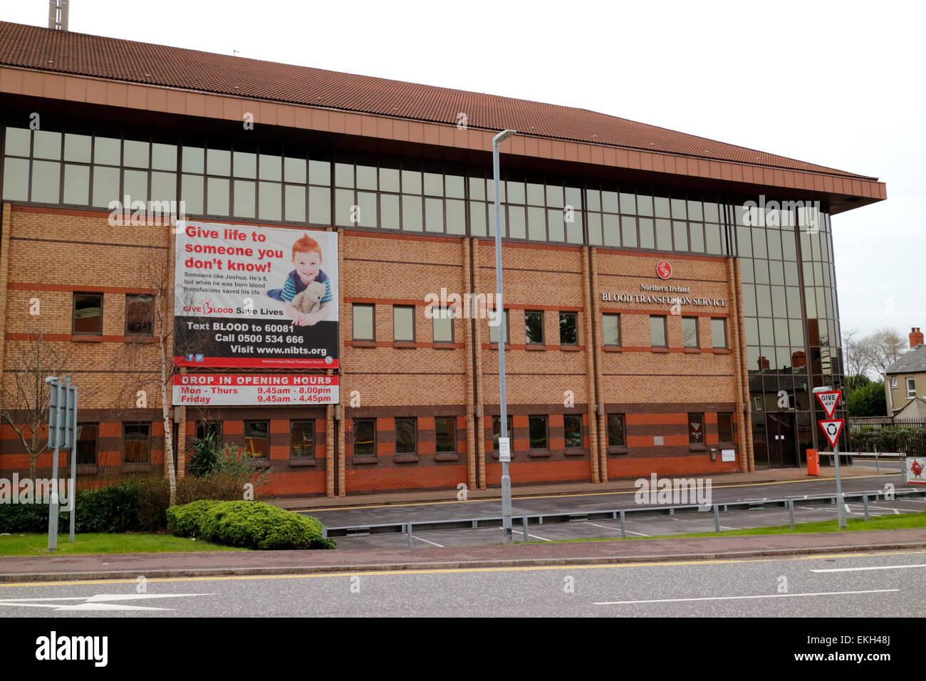 Northern Ireland blood transfusion service building Stock Photo