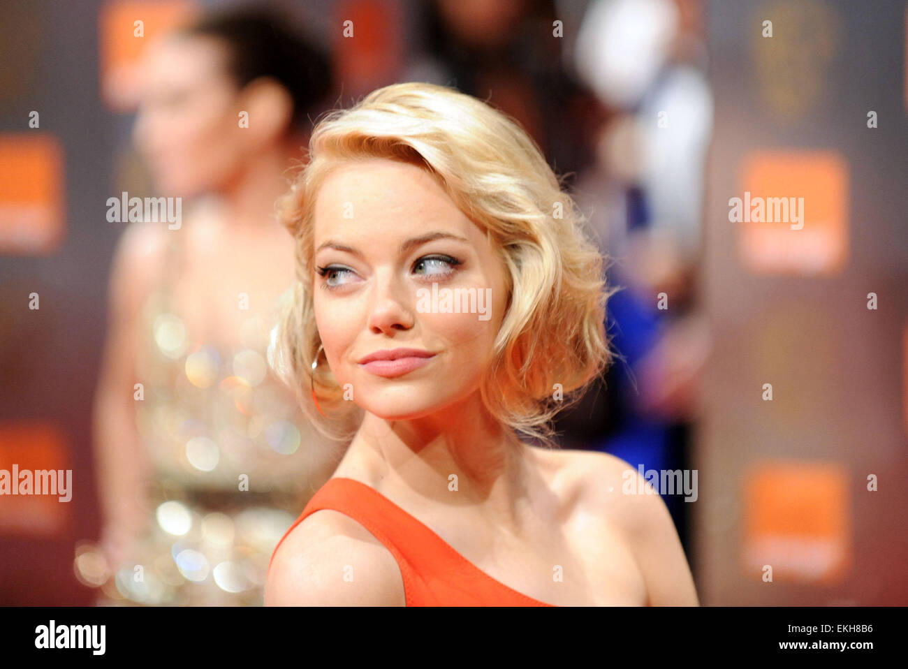 13.FEBRUARY.2011. LONDON  EMMA STONE AT THE ORANGE BRITISH ACADEMY FILM AWARDS AT THE ROYAL OPERA HOUSE IN CENTRAL - Stock Image