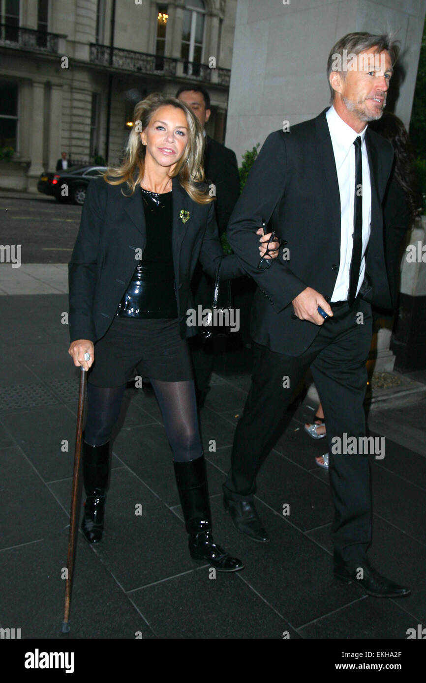 06.JUNE.2011. LONDON  LESLIE ASH AND LEE CHAPMAN AT THE LONDON BAR AND CLUB AWARDS AT THE INTERCONTINENTAL HOTEL - Stock Image