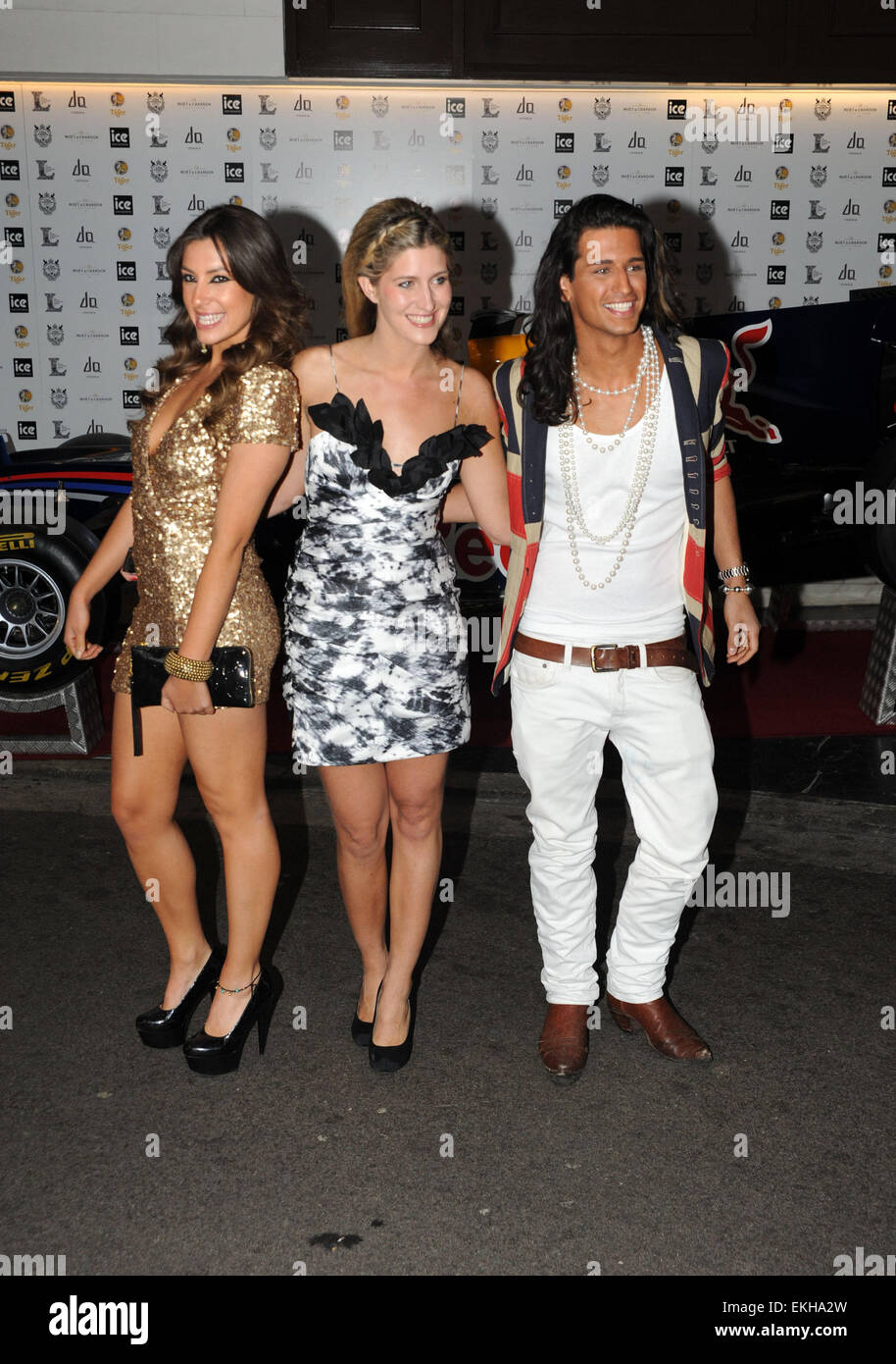 06.JUNE.2011. LONDON  THE TV REALITY SERIES MADE IN CHELSEA STARS GABRIELLA ELLIS, FRANCESCA HULL AND OLLIE LOCKE - Stock Image