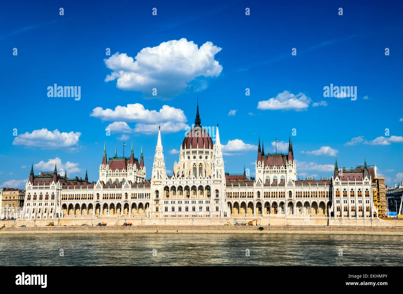 Budapest, Hungary. Hungarian Parliament building, Orszaghaz, is the seat of the National Assembly of Hungary, one - Stock Image