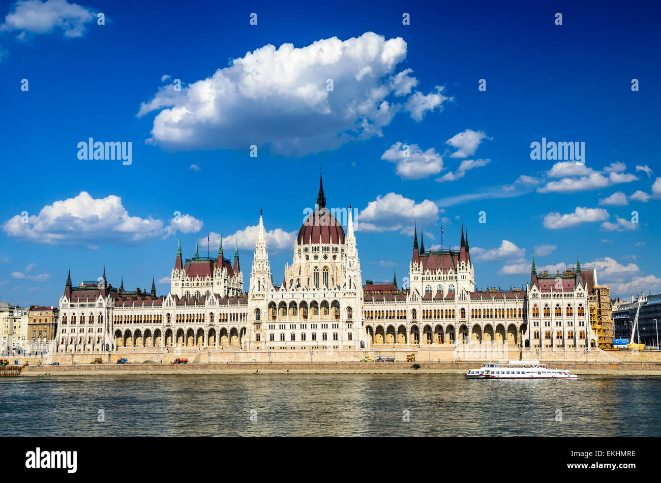 Budapest, Hungary. Hungarian Parliament building, Orszaghaz, is the seat of the National Assembly of Hungary. - Stock Image