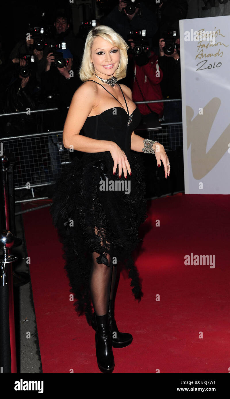 08.DECEMBER.2010. LONDON  KRISTINA RIHANOFF ARRIVING AT THE SAVOY THEATRE FOR THE 2010 BRITISH FASHION AWARDS. - Stock Image