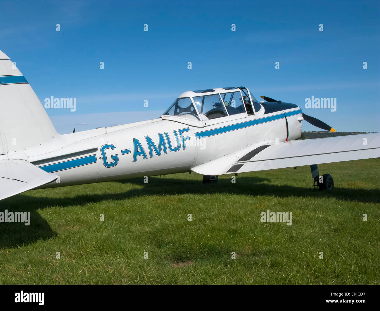 An superb example of a 1950s De Havilland Chipmunk two seater trainer - Stock Image