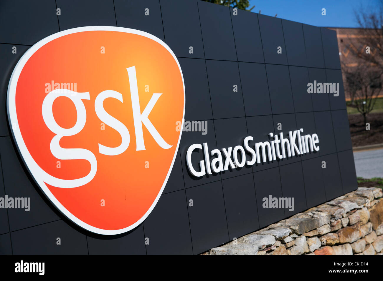Sign Of Glaxosmithkline Pharmaceuticals Stock Photos Sign Of