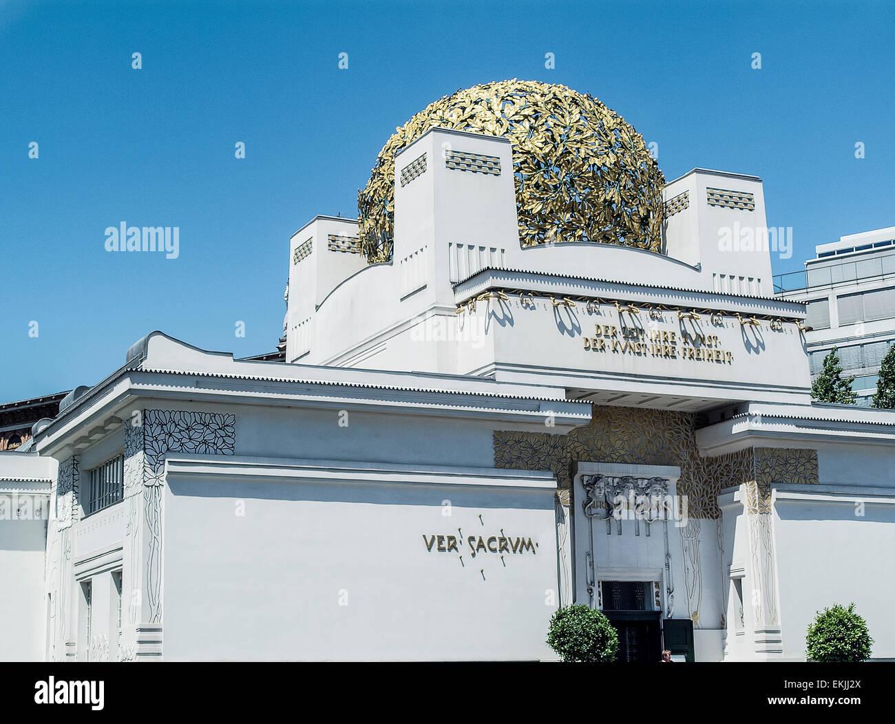 Secession house in vienna austria europe - Stock Image