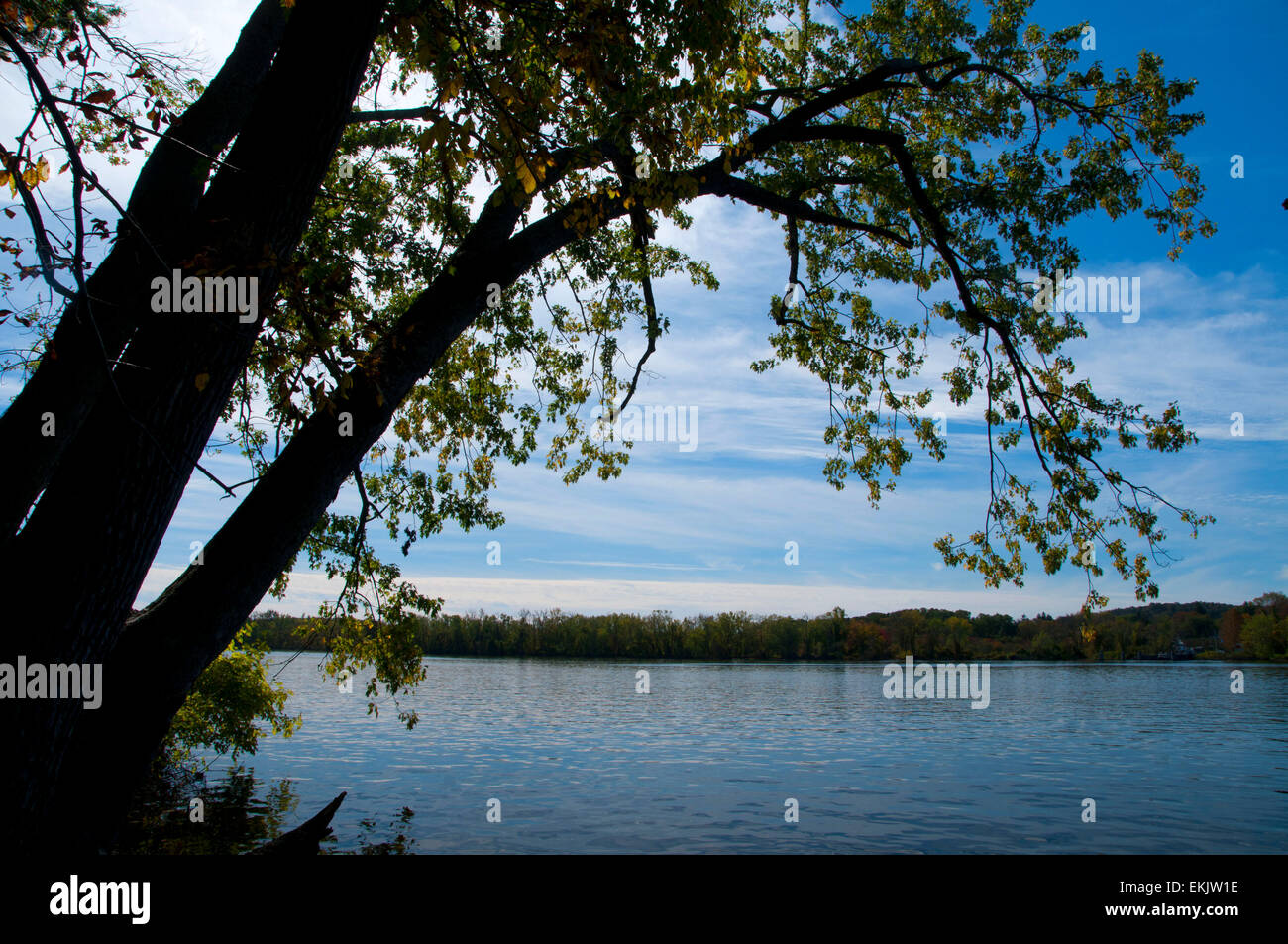 Connecticut River, Gillette Castle State Park, Connecticut - Stock Image
