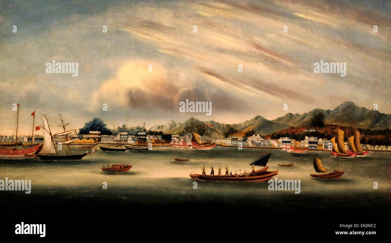 Amoy (Xiamen), China, circa 1850 - Stock Image