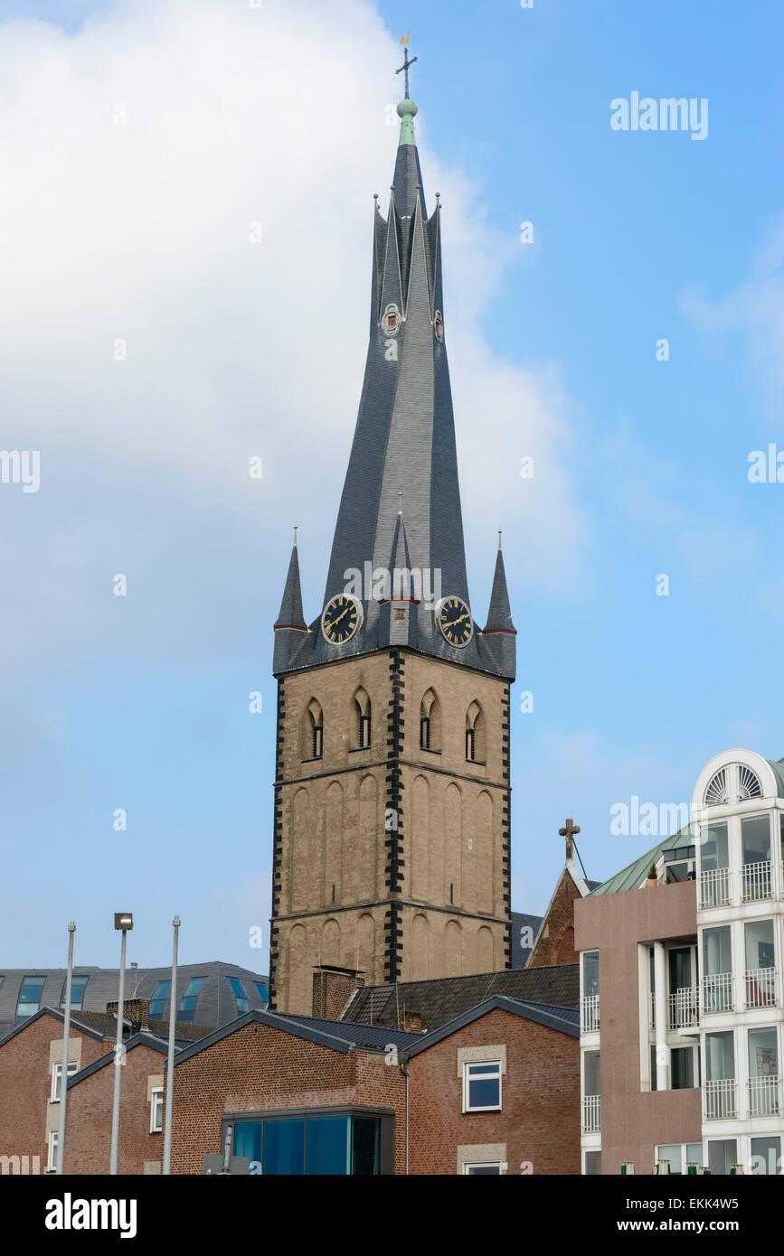 St. Lambertus Church, Dusseldorf Stock Photo