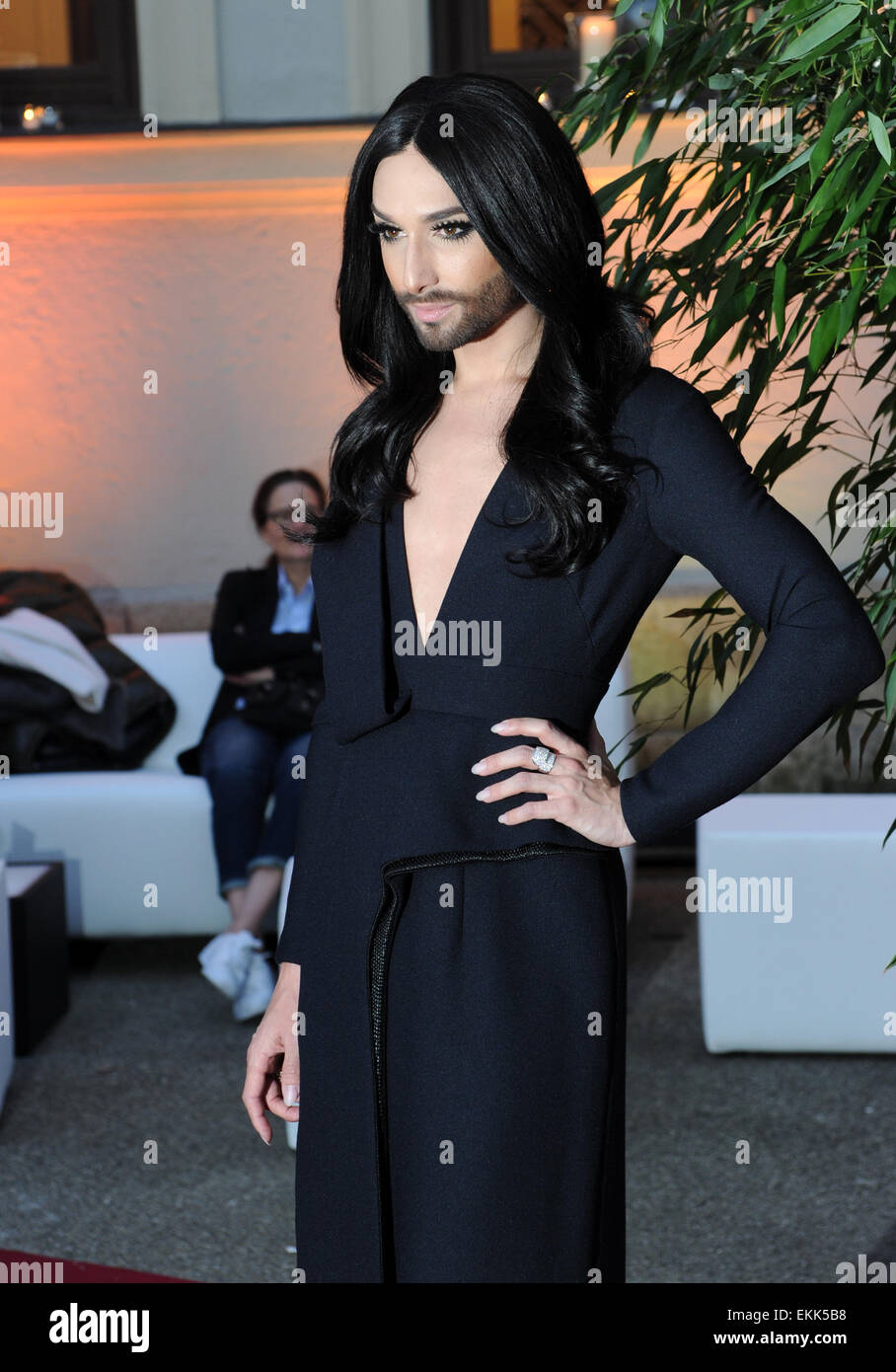 Munich, Germany. 10th Apr, 2015. Singer Conchita Wurst at the premiere of US American TV show 'Transparent' - Stock Image