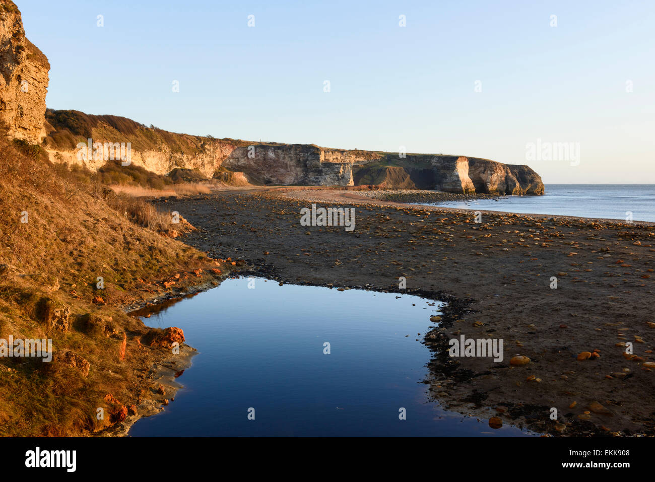 Noses Point and Blast Beach County Durham - Stock Image