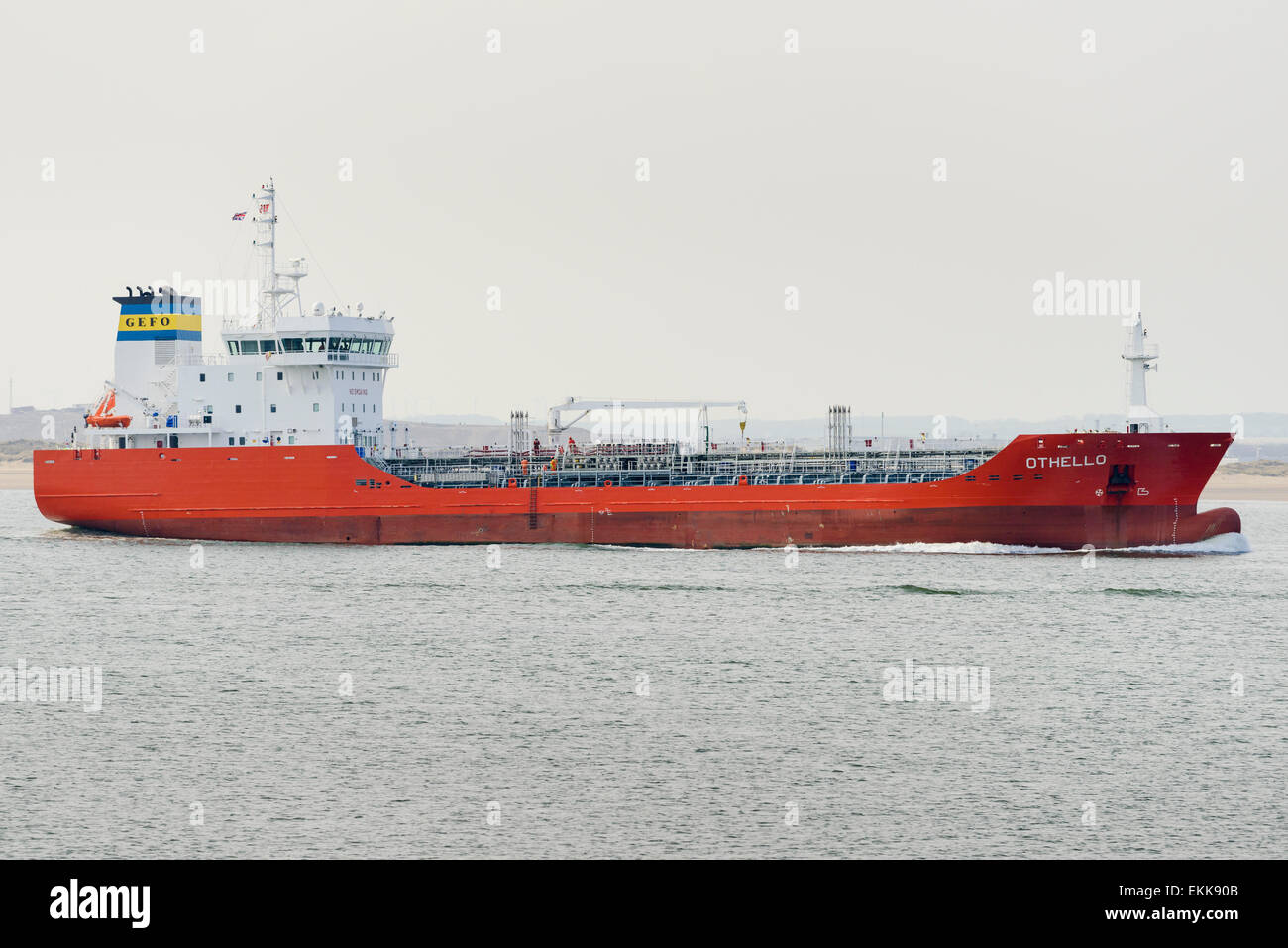 M/T Othello, a dublex stainless steel chemical / oil tanker built in Tersan Shipyard Turkey. Owners Gefo Gesellschaft - Stock Image