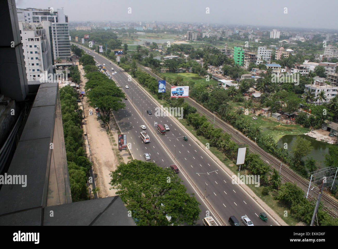 An overview of Dhaka city, the fastest population growth among the South Asian cities. on April 11, 2015 Population - Stock Image