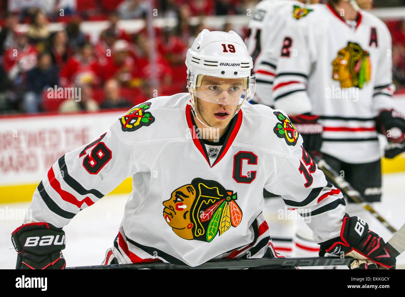 chicago blackhawks center jonathan toews 19 during the nhl game