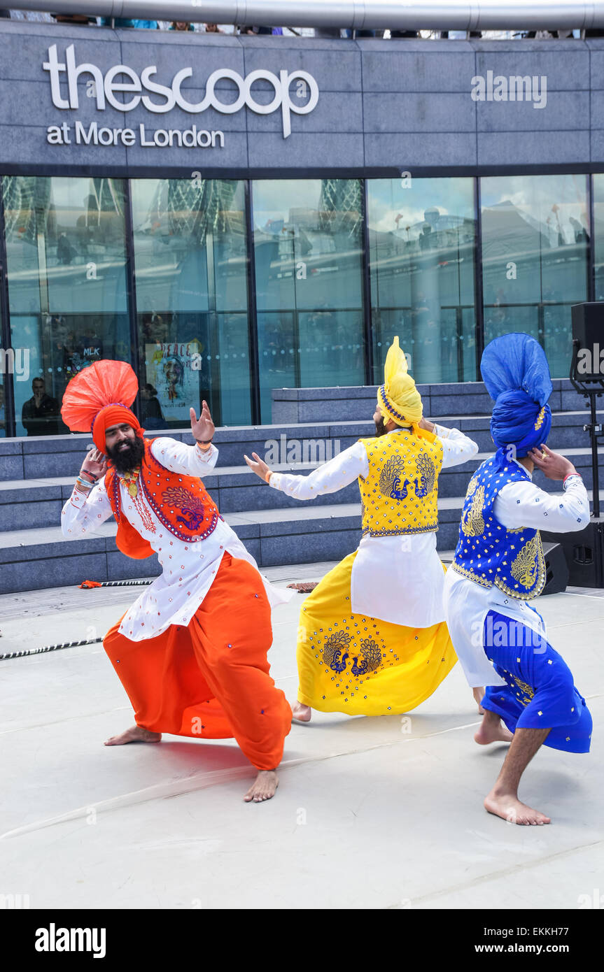 The Vaisakhi (the Sikh New Year) Festival celebrations at City Hall and The Scoop in London, England United Kingdom Stock Photo